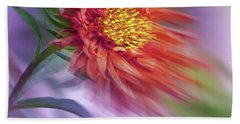 Flower In The Wind Hand Towel