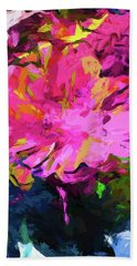 Flower Lolly Pink Yellow Hand Towel