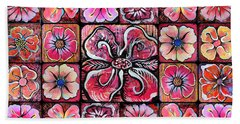 Flower Montage Bath Towel