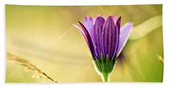 Flower On Summer Meadow Bath Towel