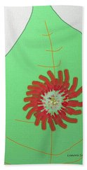 Bath Towel featuring the painting Flower On The Leaf by Lenore Senior