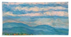 Bath Towel featuring the painting Flower Path To The Blue Ridge by Kendall Kessler