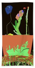 Flower Pot 3 Bath Towel