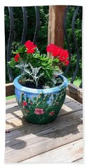 Flower Pot Bath Towel