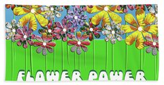 Flower Power Bath Towel