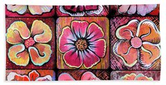 Flower Power Montage Bath Towel