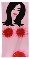 Flower Power - Pink Bath Towel