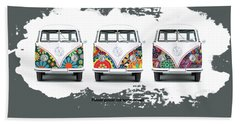 Flower Power Vw Bath Towel