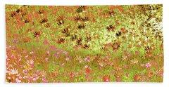 Bath Towel featuring the digital art Flower Praise by Linde Townsend
