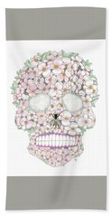 Flower Sugar Skull Hand Towel