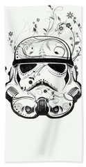 Flower Trooper Bath Towel