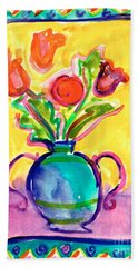 Flower Vase Hand Towel