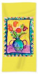 Flower Vase Bath Towel