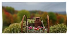 Bath Towel featuring the photograph Flower Wagon by Mary Timman