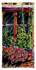 Flower Window Hand Towel by Terry Banderas