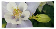 Bath Towel featuring the photograph Flower With Bud by Jasna Gopic