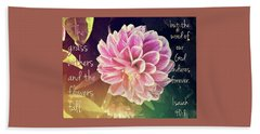 Flower With Scripture Hand Towel