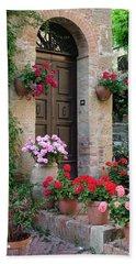 Flowered Montechiello Door Bath Towel