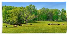 Flowering Cow Pasture Hand Towel