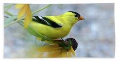 Flowering Finch Hand Towel