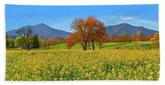 Flowering Meadow, Peaks Of Otter,  Virginia. Bath Towel