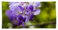 Bath Towel featuring the photograph Flowering Wisteria Sinensis by Chris Coffee