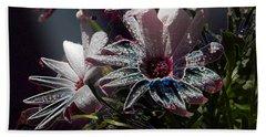 Bath Towel featuring the digital art Flowers by Stuart Turnbull