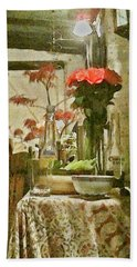 Flowers And Foliage Bath Towel