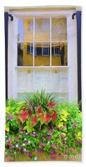 Flowers And Reflections Bath Towel