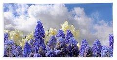 Flowers And Sky Bath Towel