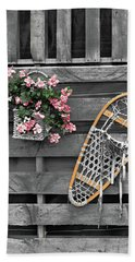 Flowers And Snowshoe Hand Towel