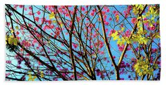 Bath Towel featuring the photograph Flowers And Trees by D Davila