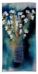 Hand Towel featuring the digital art Flowers Free by Frank Bright