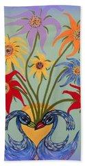 Flowers In A Fancy Vase  Hand Towel