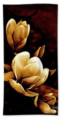 Flowers In Sepia  Hand Towel