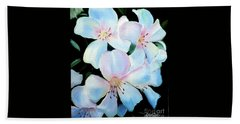 Flowers In Shades Of White Hand Towel by Derek Rutt