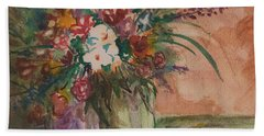 Flowers In Vases 2 Bath Towel