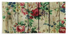 Flowers On Wood 01 Hand Towel