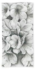 Clivia Flowers Pencil Bath Towel