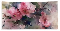 Flowers Bath Towel by Robin Miller-Bookhout