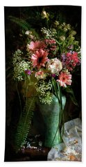 Flowers Still Life Hand Towel