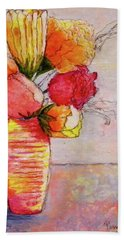 Flowers Bath Towel by Terry Honstead