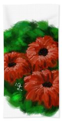 Hand Towel featuring the painting Flowers1 by Joseph Ogle