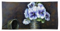 Flowers,pansies Still Life Bath Towel