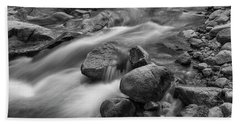 Bath Towel featuring the photograph Flowing Rocks by James BO Insogna