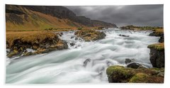 Bath Towel featuring the photograph Flowing Water And Dark Clouds by Pradeep Raja PRINTS