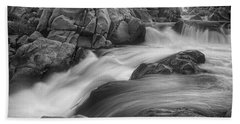 Flowing Waters At Kern River, California Hand Towel
