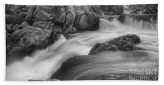Flowing Waters At Kern River, California Bath Towel