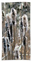 Fluffy Cattails Bath Towel