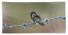 Fluffy Hummingbird Bath Towel